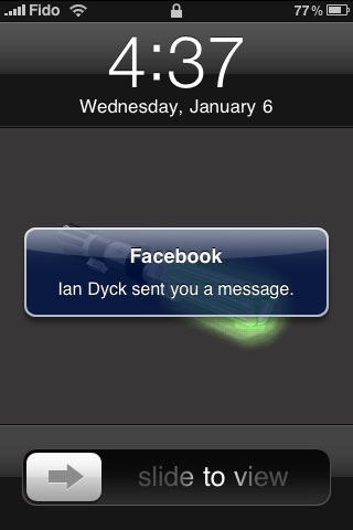 Facebook notification on your iphone lena shore