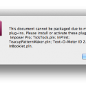 Old Indesign File Won't Package Without Missing Plugins