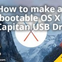 How to make a bootable OS X El Capitan USB Drive