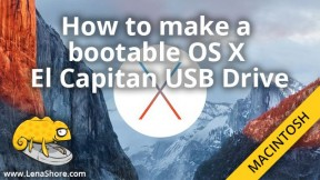 How to make a bootable OS X El Capitan USB Drive