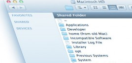 Macintosh Window Missing Sidebar